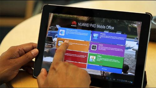 Interface of Huawei BYOD mobile office application