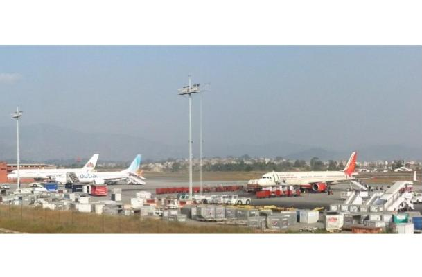 Tribhuvan International Airport in Kathmandu