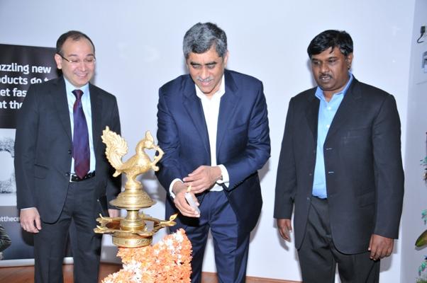 L-R Sunil Manglore,MD, CA Technologies Ram Varadarajan, GM, New Business Innovation, CA Technologies & Raj Gopalakrishna, Sr VP, Center Manager, CA Bangalore Technology Center