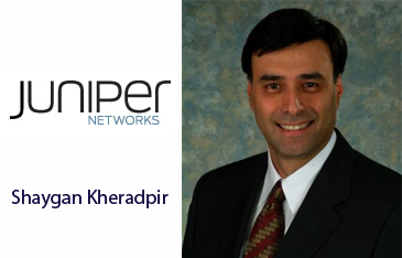 Shaygan Kheradpir, chief executive officer of Juniper Networks