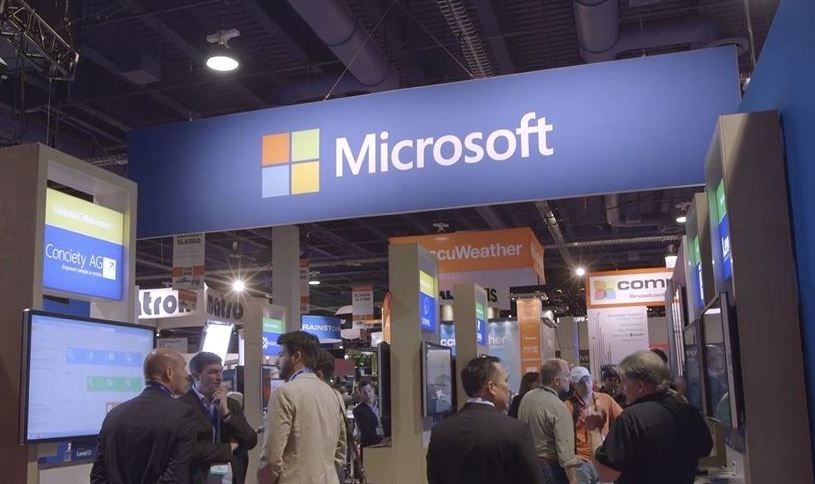Microsoft at an event in 2016