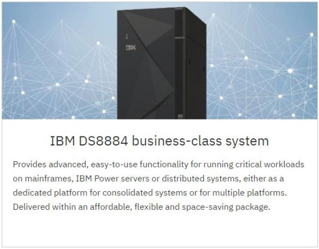 IBM DS8884 storage technology