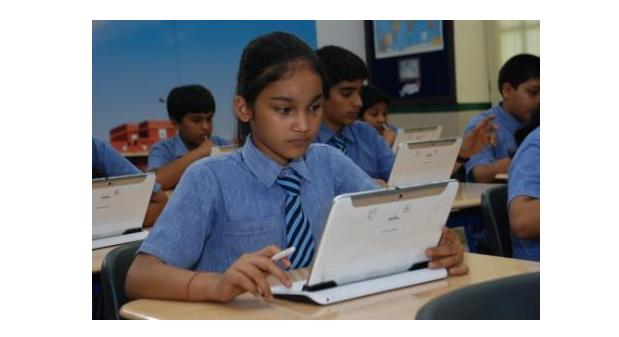 Modern School students learning the digital way