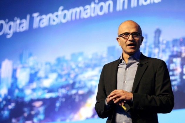 Microsoft CEO Satya Nadella in India