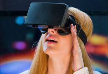 VR headset user