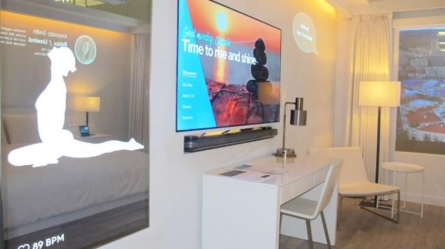 IoT hotel room in Marriott