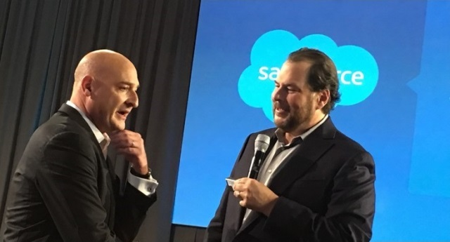 Salesforce co-CEOs Keith Block and Marc Benioff