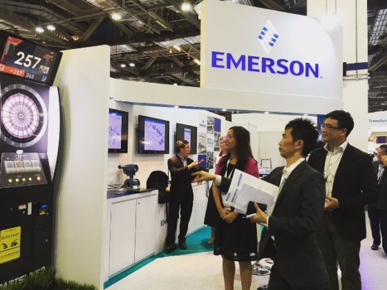Emerson at a trade event