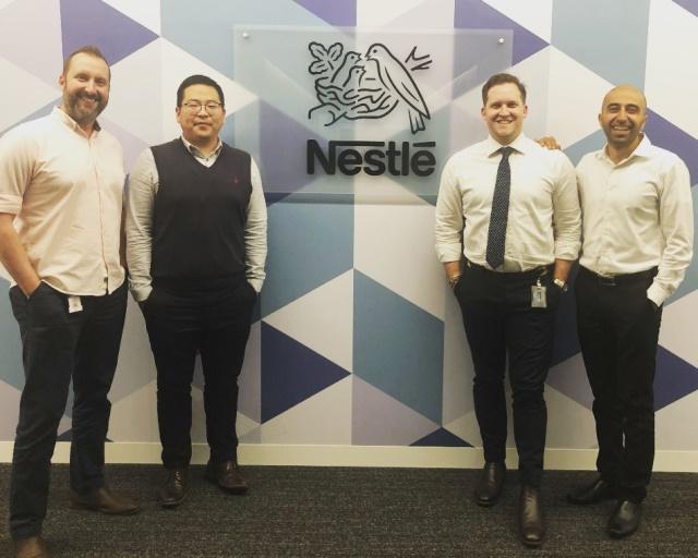Digital transformation Nestle Australia team