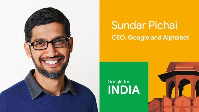 Google CEO Sundar Pichai in India