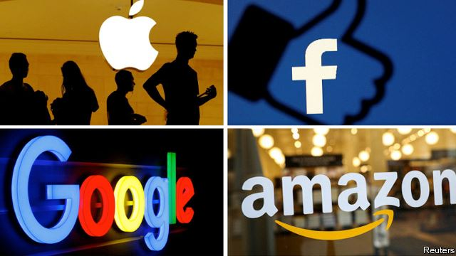 Apple, Amazon, Facebook, Google