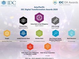 IDC Digital Transformation Award Asia Pacific 2020
