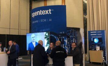 OpenText booth
