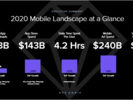 App revenue report for 2020