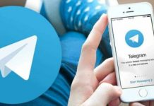 Telegram on smartphone
