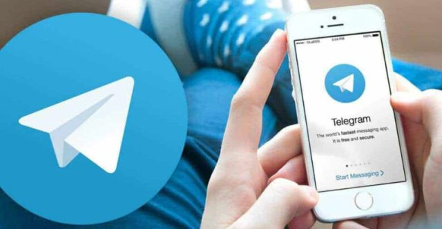Telegram on smartphone