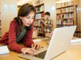 Internet user on laptop