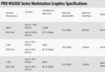 AMD Radeon PRO W600 workstation graphics