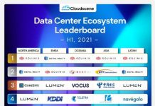 Top 10 Data Centers in H1 2021 released by Cloudscene